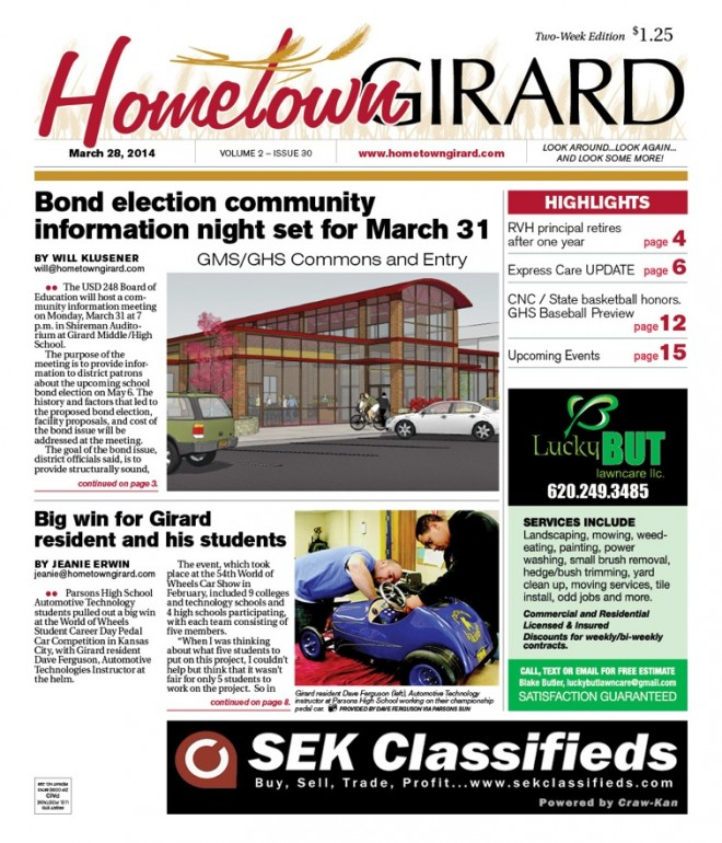 Front Page of the March 28 Edition