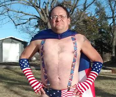 Captain Trashman Kenny Schettler, winner of the Polar Plunge most money raised individually and best costume.