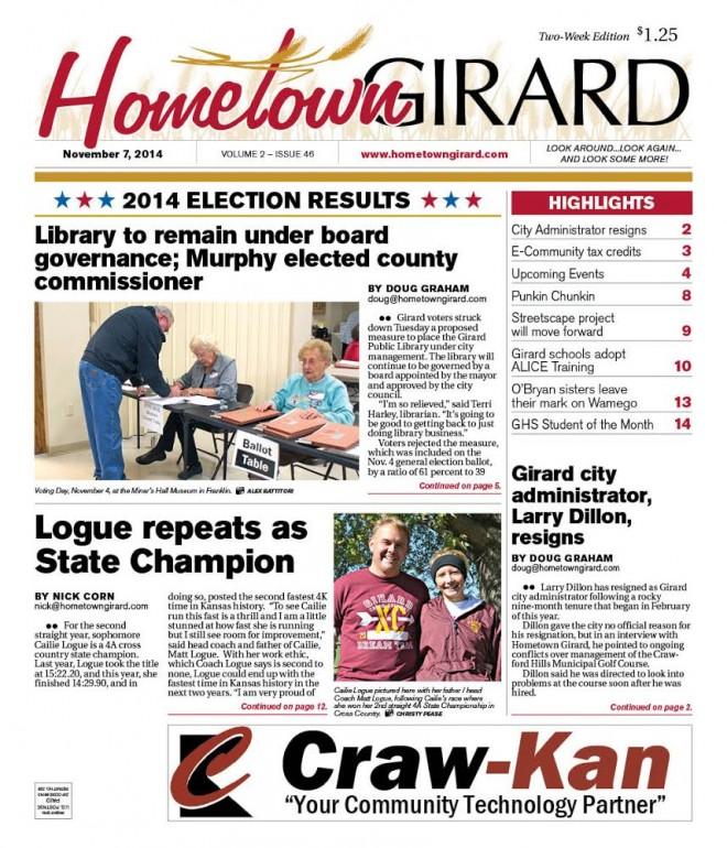 Front Page, Nov 7, 2014