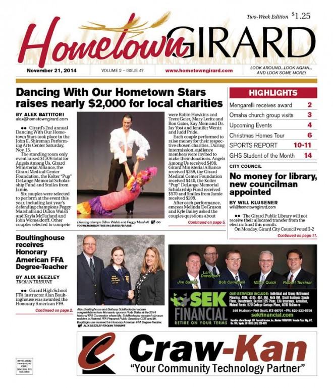 Front Page, Nov. 21, 2014