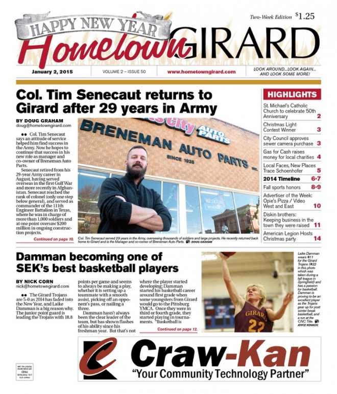 Front Page, Jan 2 Edition