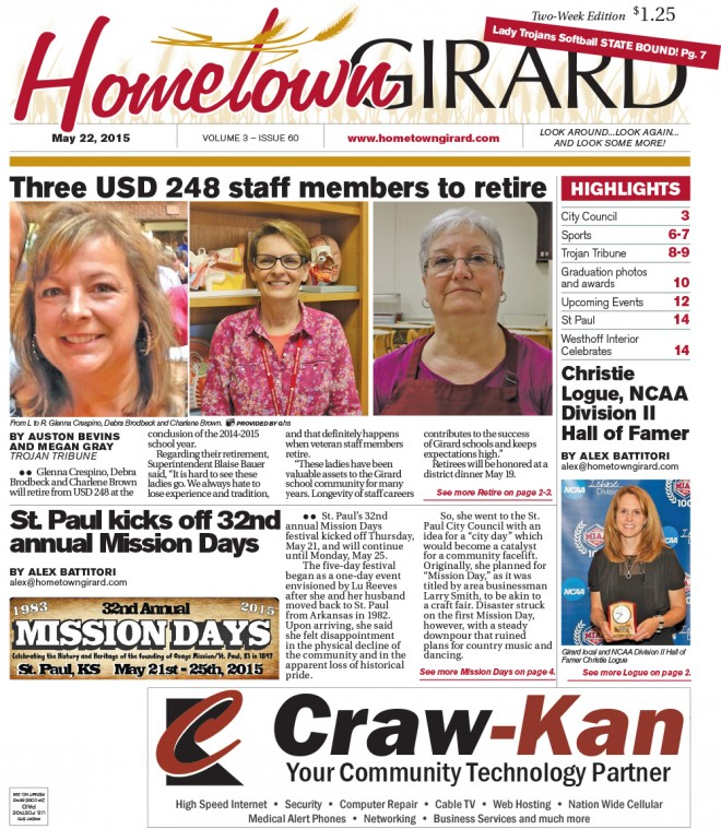 Front Page. May 22, 2015