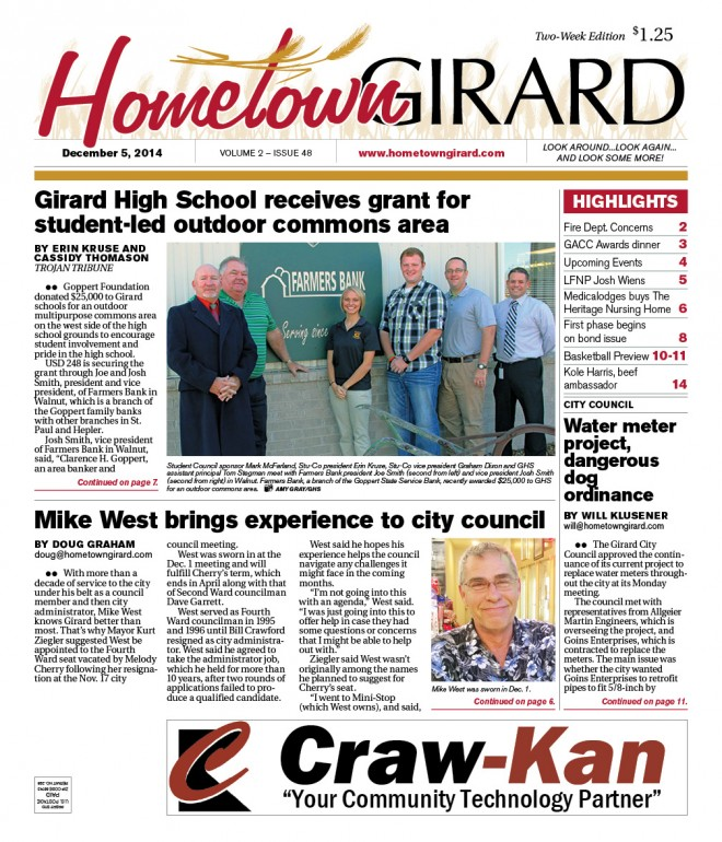 Front Page, Dec 5, 2014 Edition