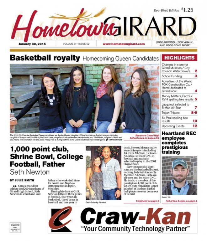 Front Page, Jan. 30, 2015