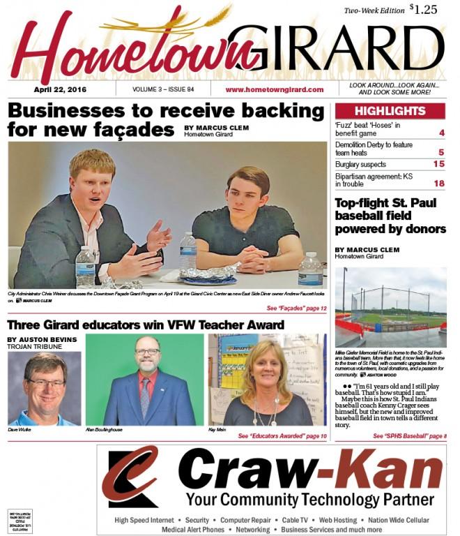 Front page: April 22, 2016
