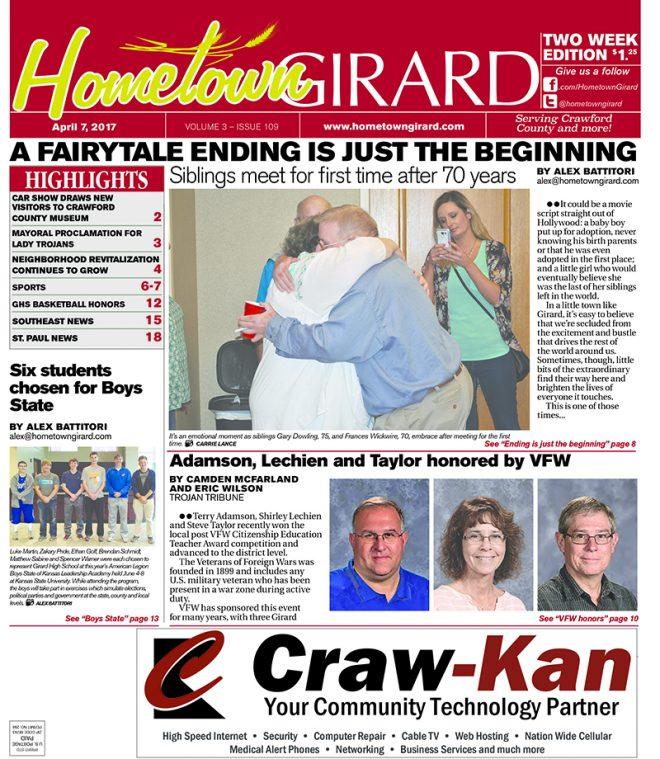 Front Page: April 7, 2017