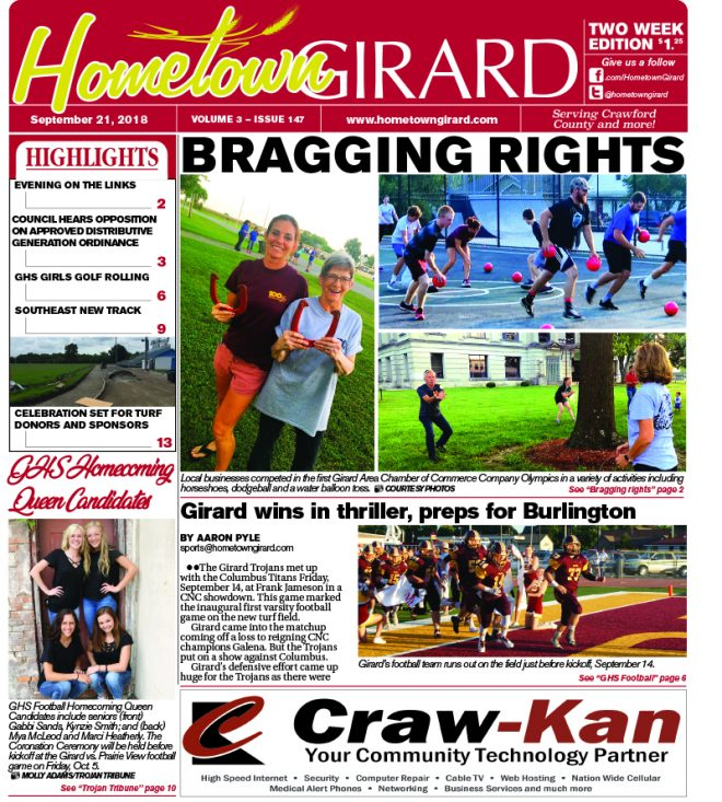 Front page: September 21, 2018