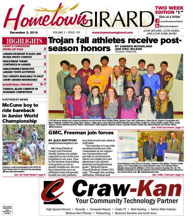 Front page: Dec. 2, 2016