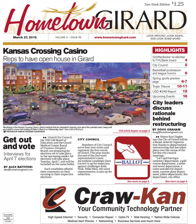 Friday March 27, 2015 – Front Page