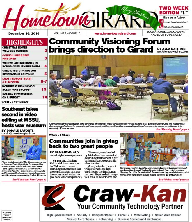 Front page: December 16, 2016
