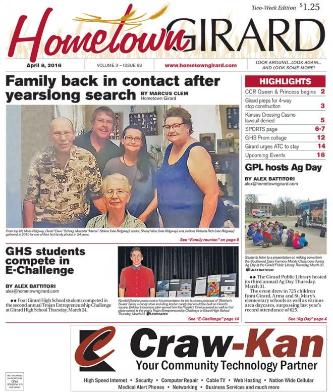 Front page: April 8, 2016