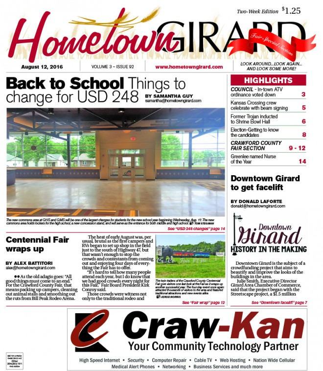 Front page: August 12, 2016