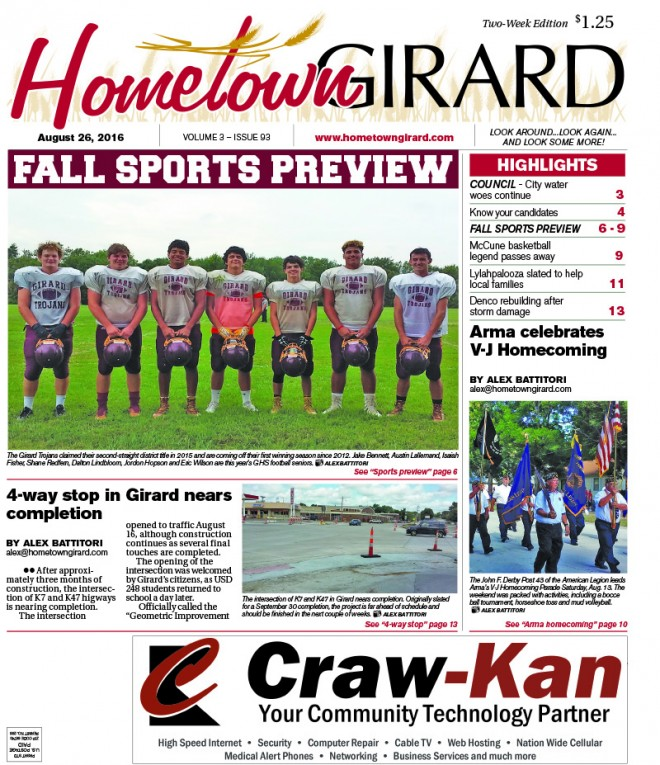 Front page: August 26, 2016