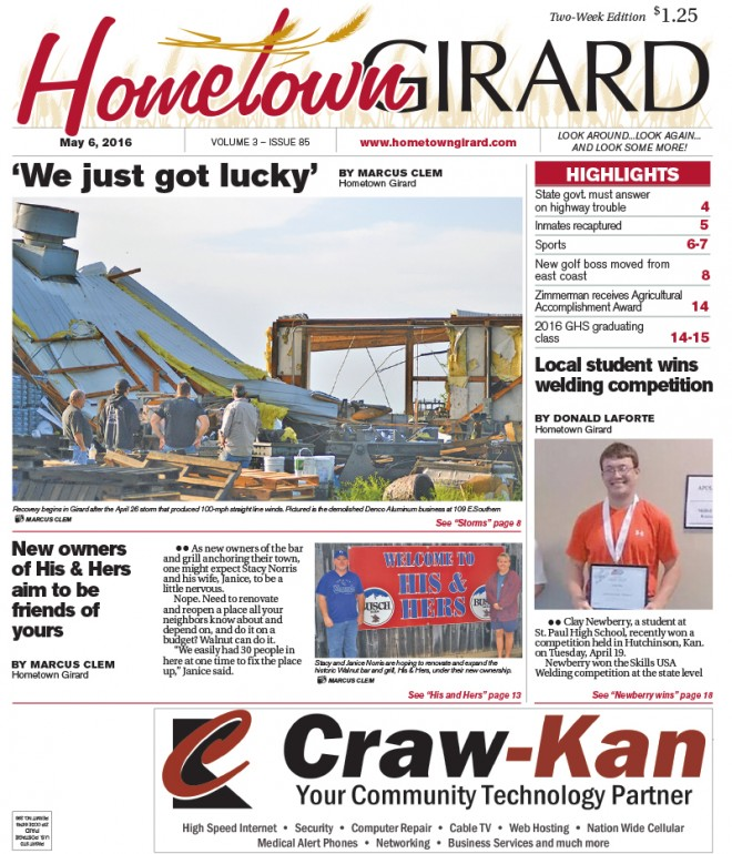 Front Page: May 6, 2016