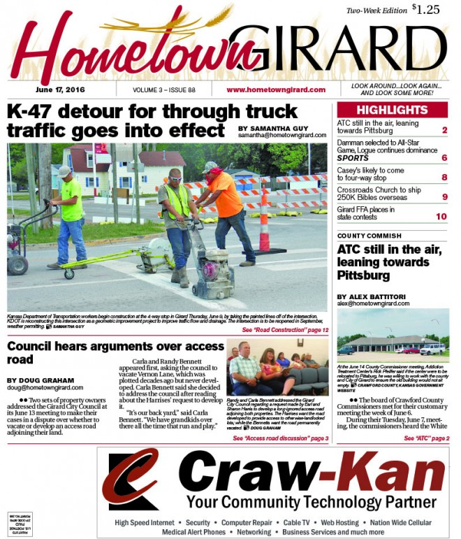 Front Page: June 17, 2016