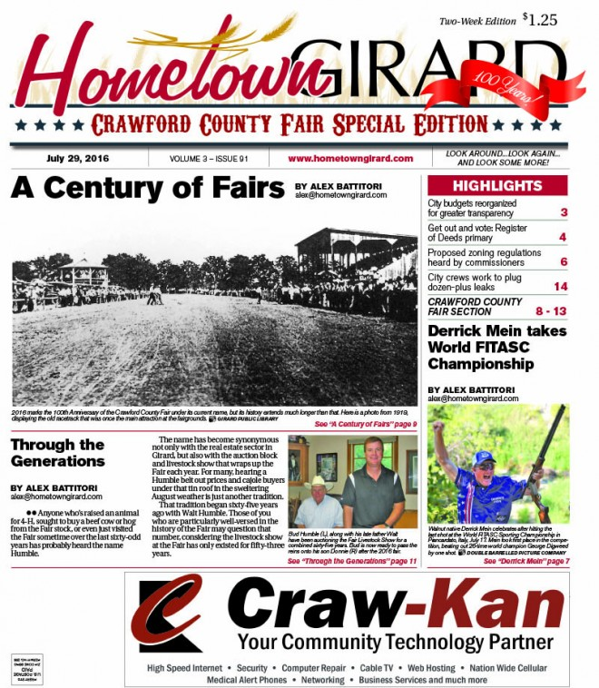 Front page: July 29, 2016