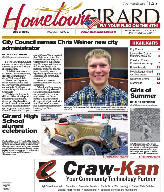 Front Page, July 3, 2015