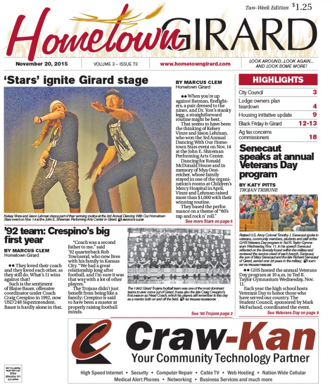 Front page November 20, 2015
