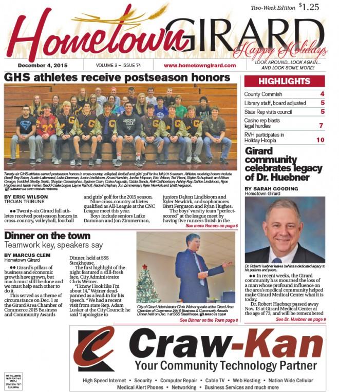 Front page, Dec. 4, 2015