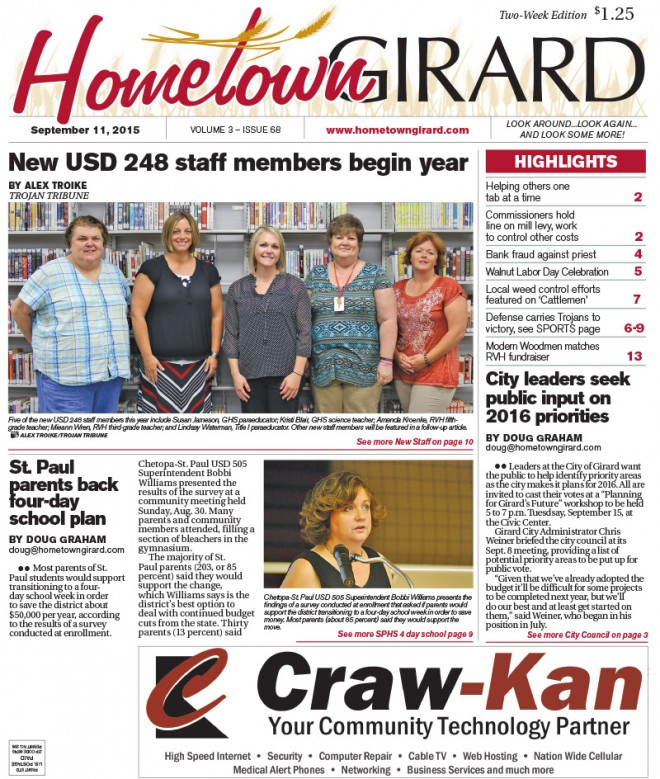 Front Page, September 11, 2015
