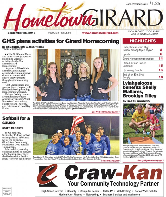 Front page, September 25, 2015