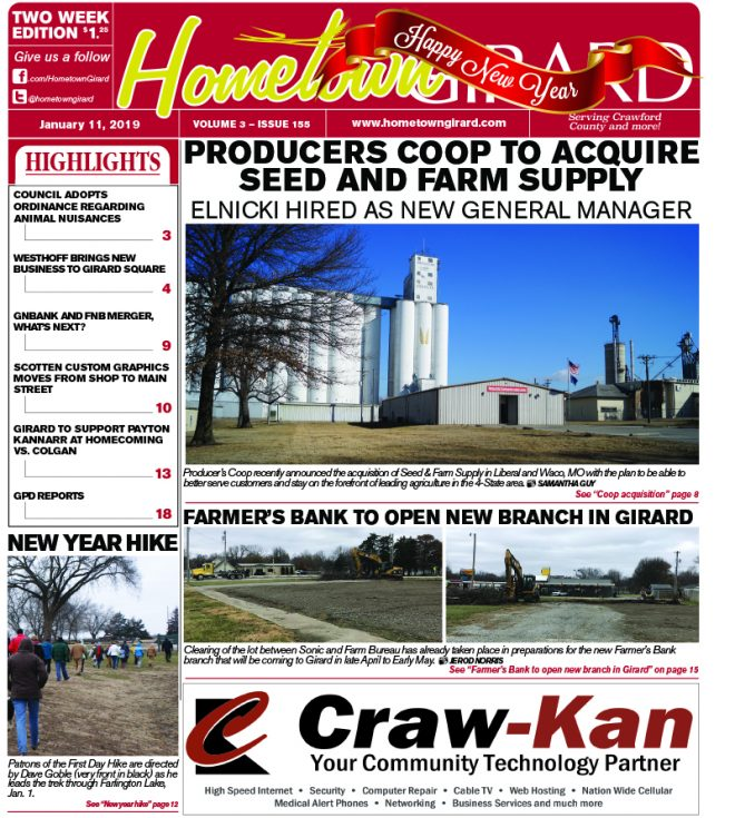 Front page: January 11, 2019