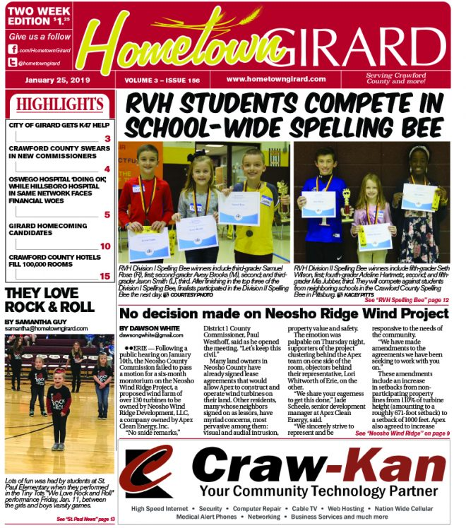 Front page: January 25, 2019
