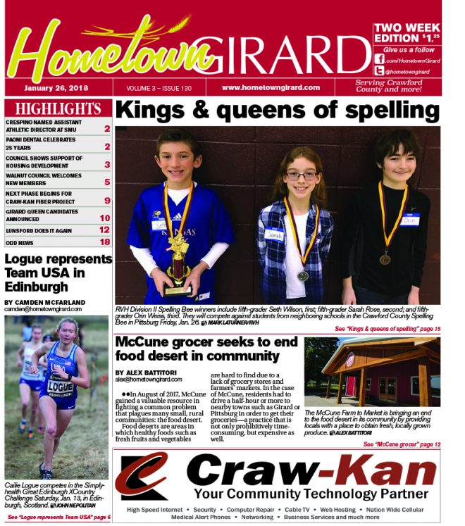 Front page: January 26, 2018