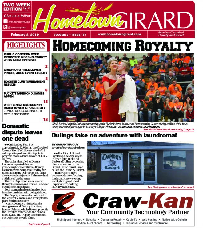 Front page: February 8, 2019