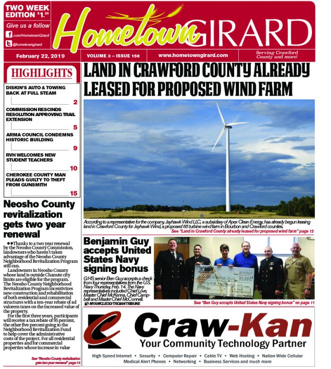 Front page: February 22, 2019