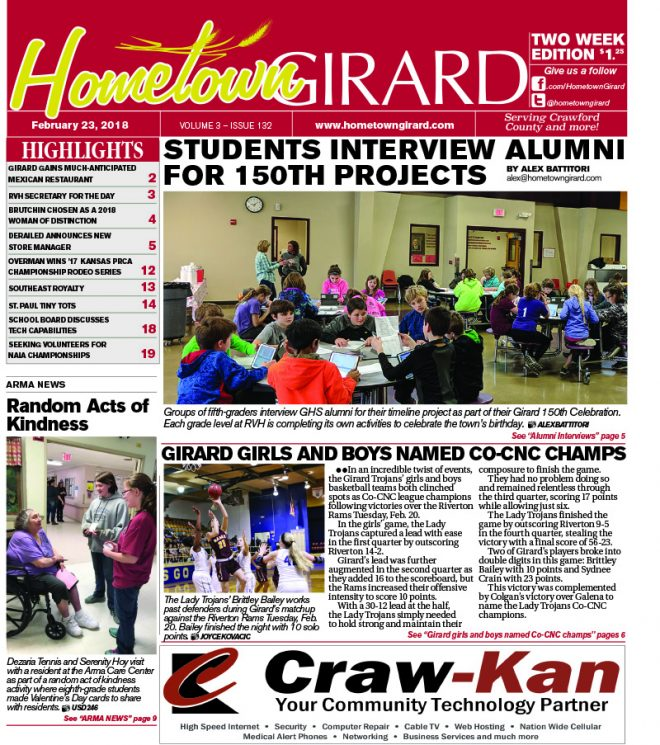 Front page: February 23, 2018