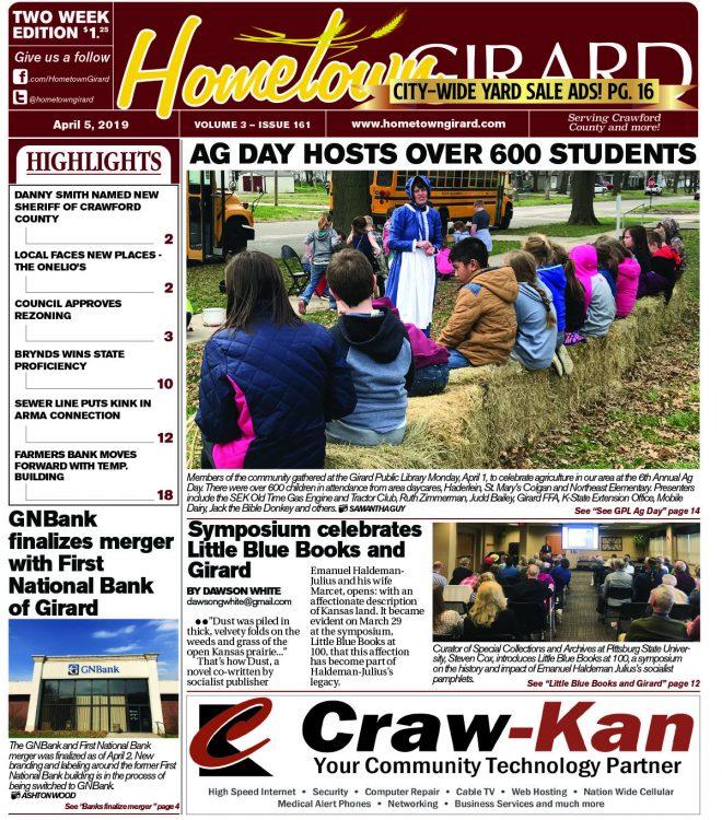 Front page: April 5, 2019