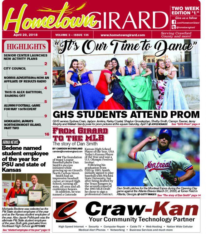 Front page: April 20, 2018