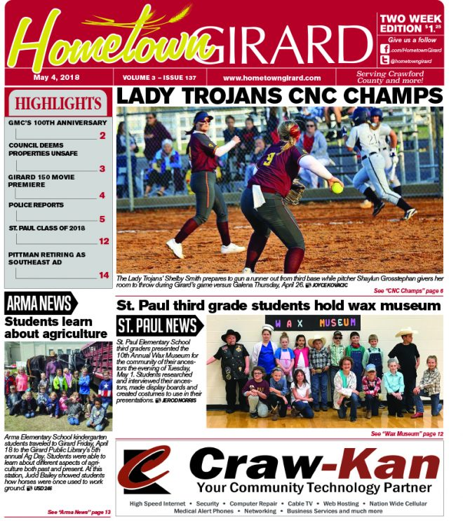 Front page: May 4, 2018