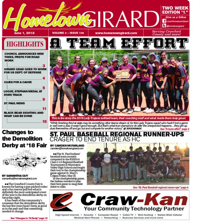 Front page: June 1, 2018