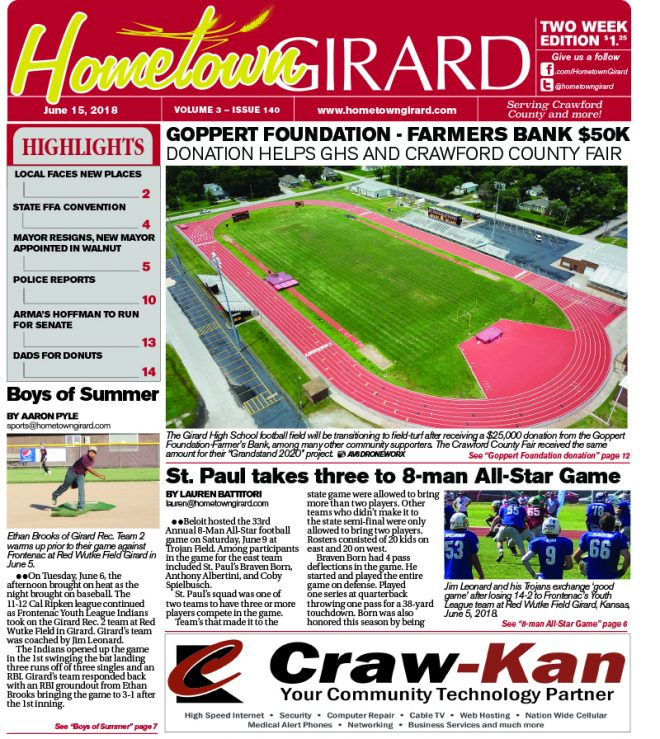 Front page: June 15, 2018