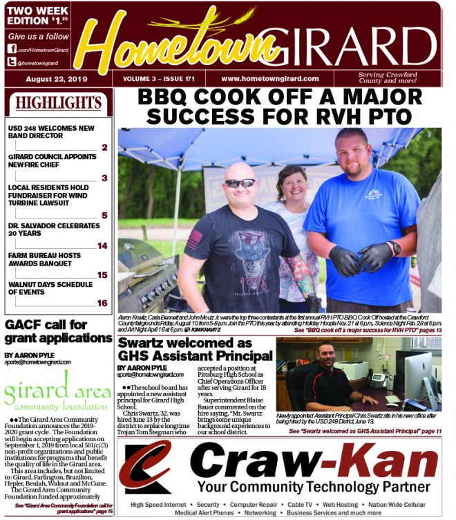 Front page: August 23, 2019