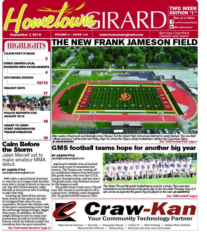 Front page: September 7, 2018