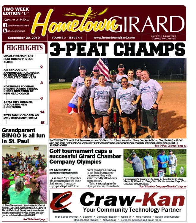 Front Page: September 20, 2019