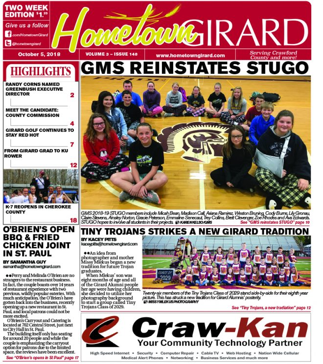 Front page: October 5, 2018