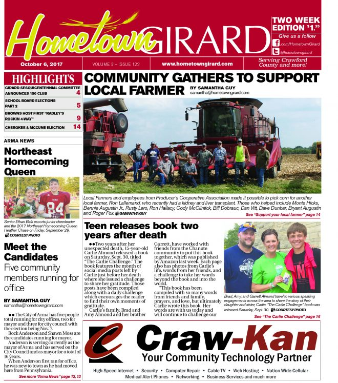 Front page: October 6, 2017