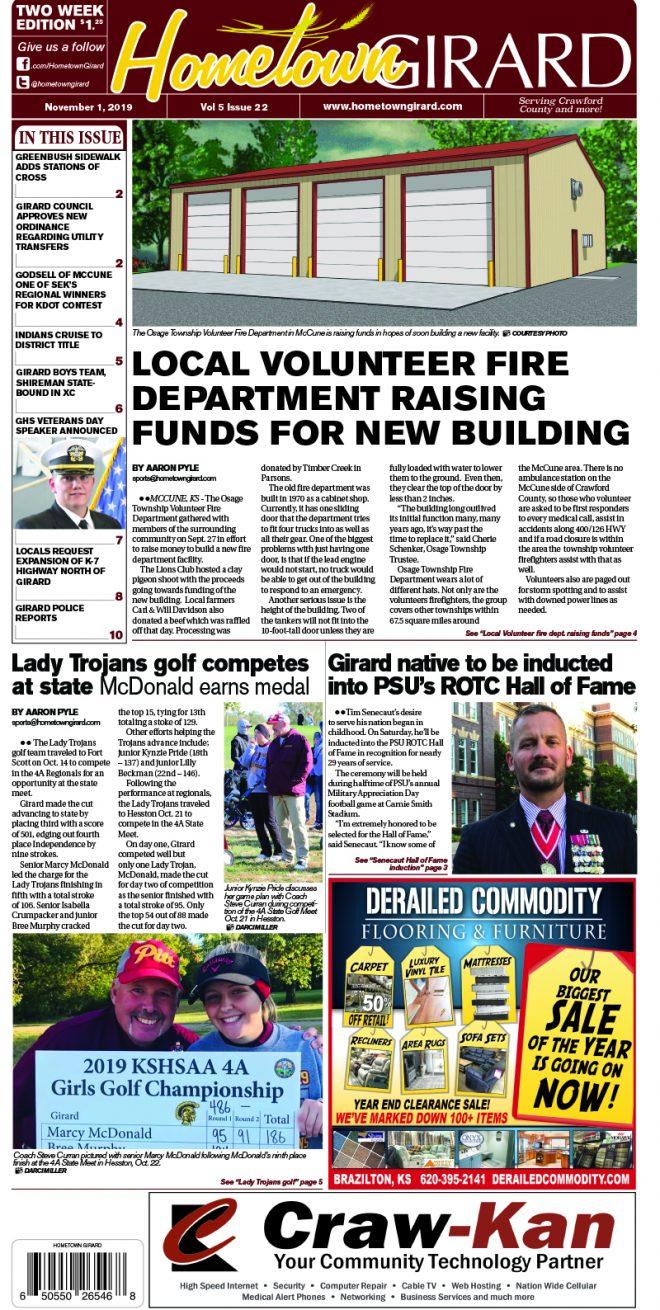 Front page: November 1, 2019