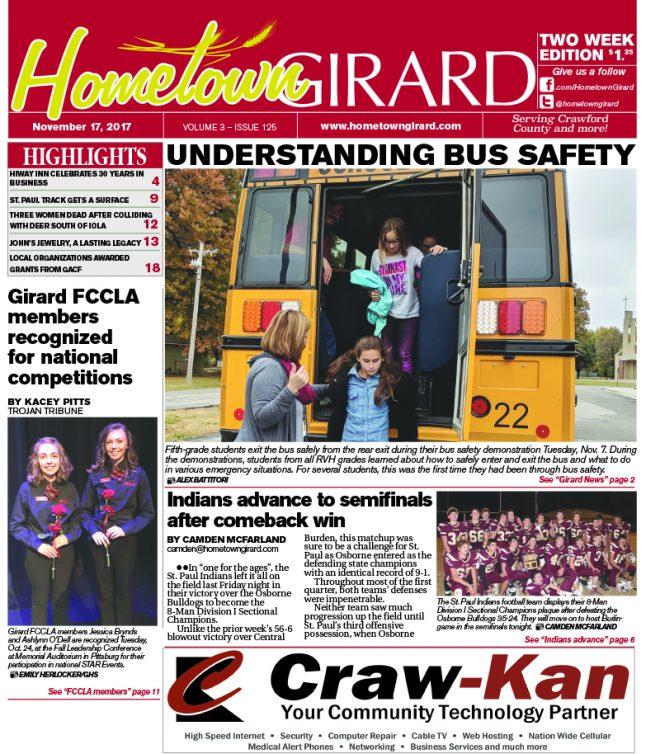 Front page: Nov. 17, 2017