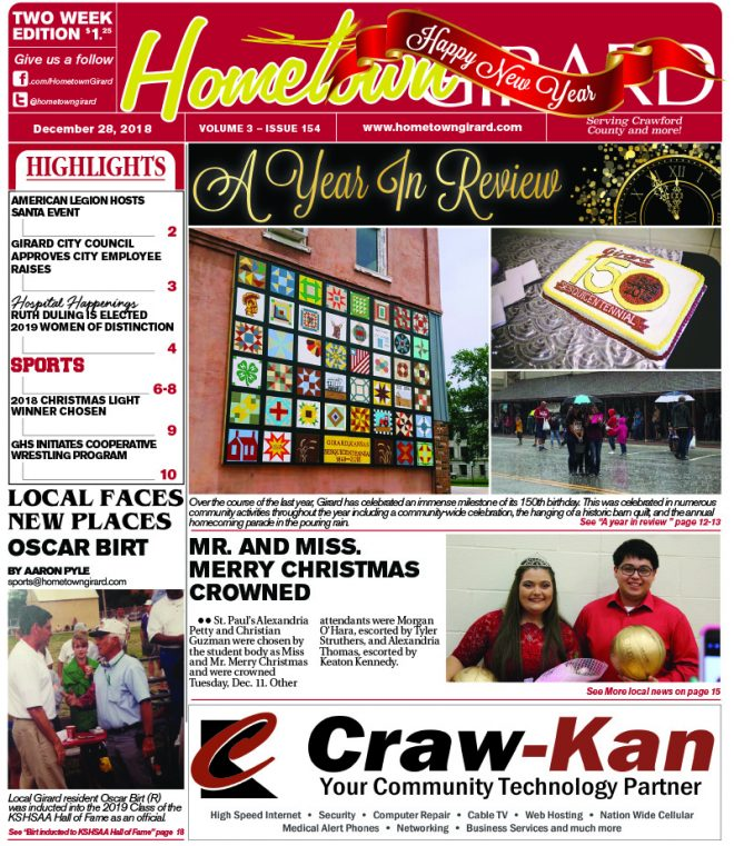 Front page: December 28, 2018