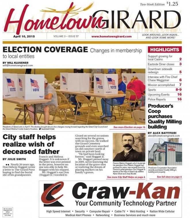 Front Page, April 10, 2015
