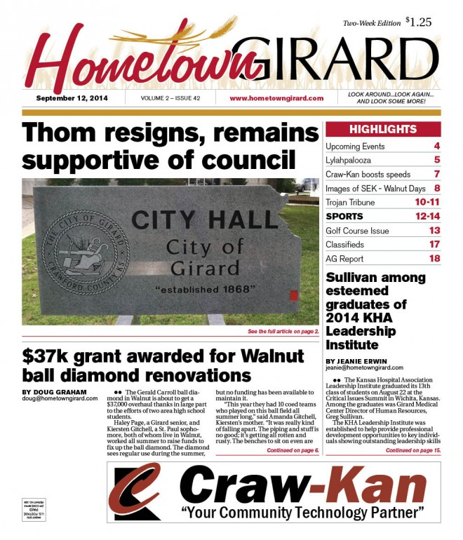Sept 12, 2014 Front Page