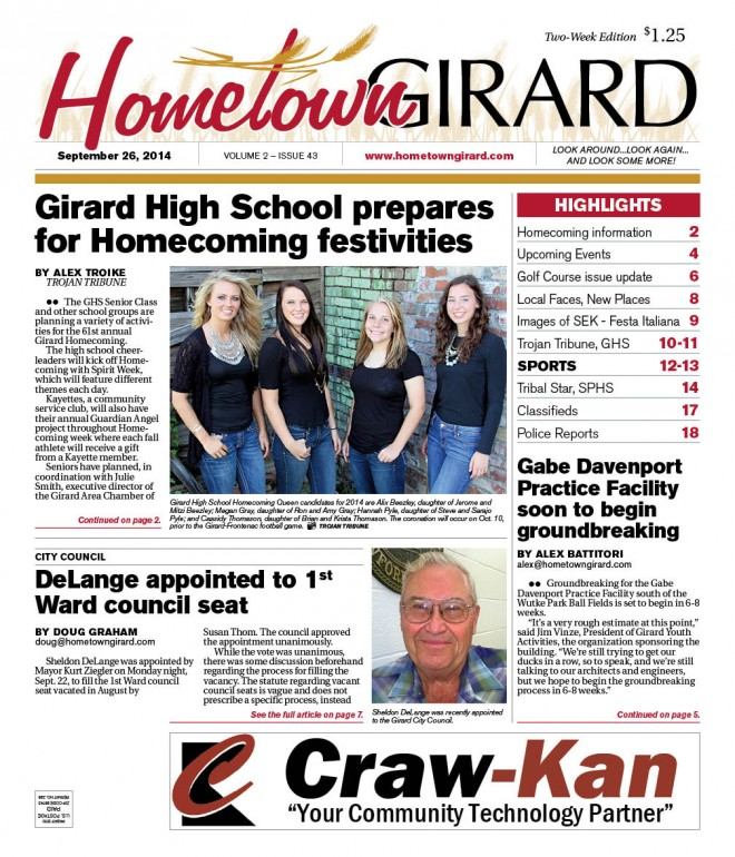 Front page, September 26, 2013 Edition