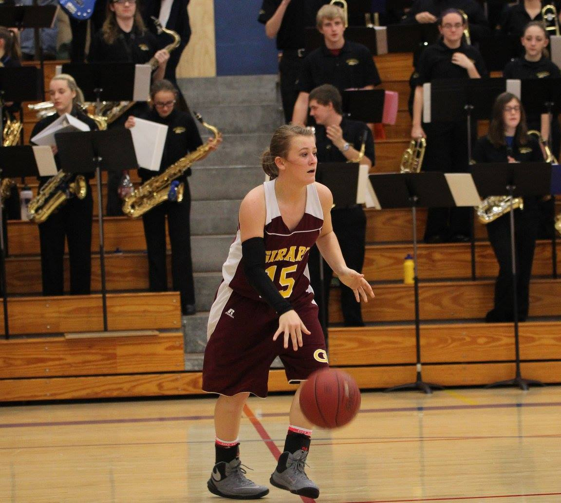 Jacey Murphy and the Lady Trojans came up just short vs. Pittsburg on Tuesday night. PHOTO BY JOYCE KOVACIC