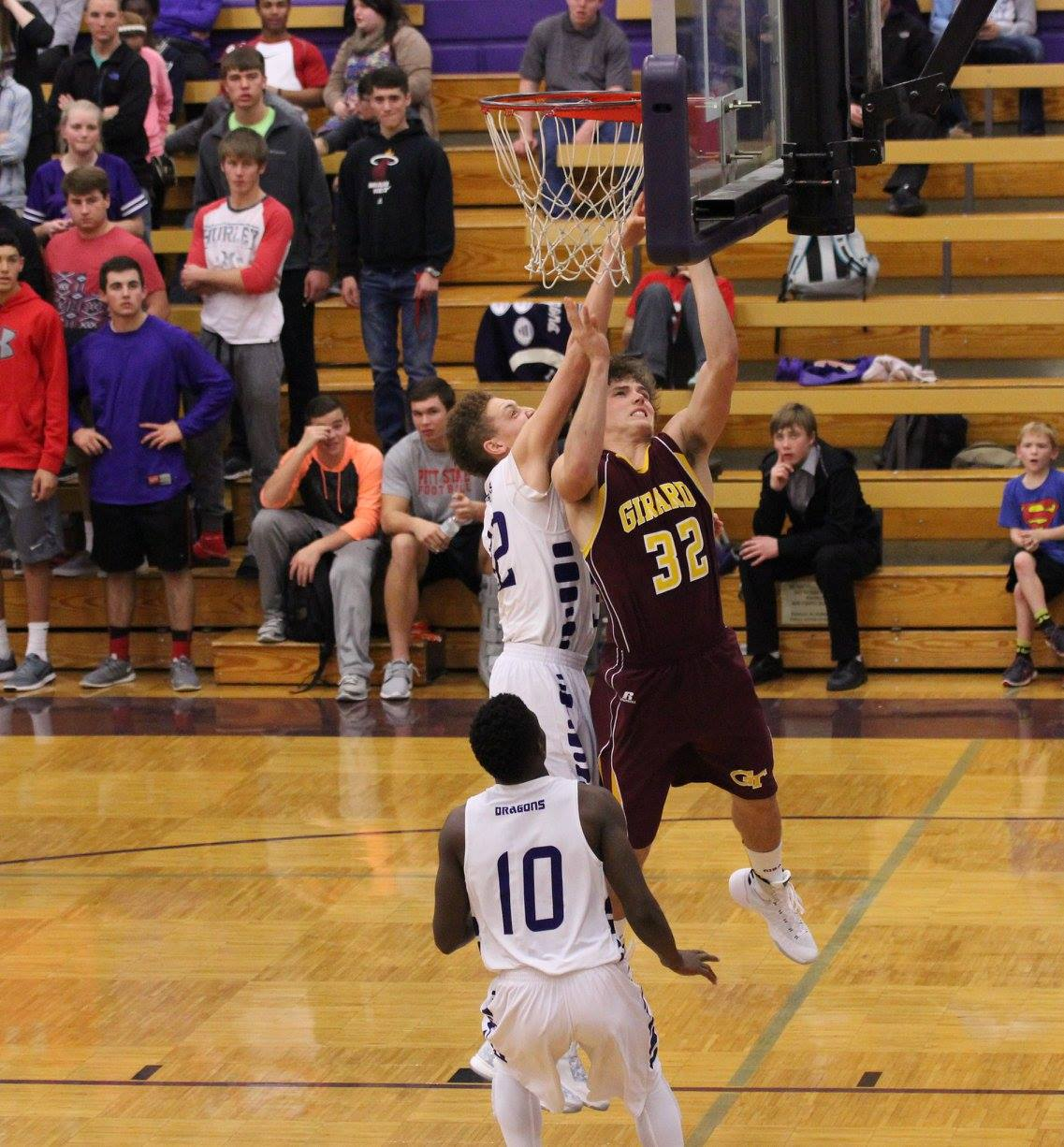 Kross Hamblin had 17 points, second to only Drew Davied in the Trojans come from behind win over Pittsburg on Tuesday. PHOTO BY JOYCE KOVACIC