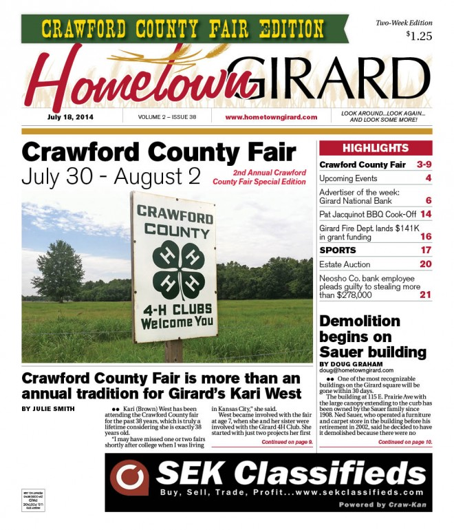 Front page of our 2nd Annual CC Fair Special Edition